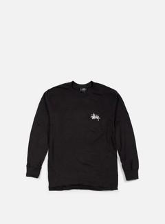 Stussy - Basic Logo Paint LS T-shirt, Black 1