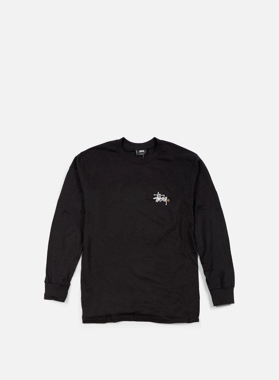 Stussy - Basic Logo Paint LS T-shirt, Black