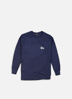 Stussy - Basic Logo Paint LS T-shirt, Navy 1
