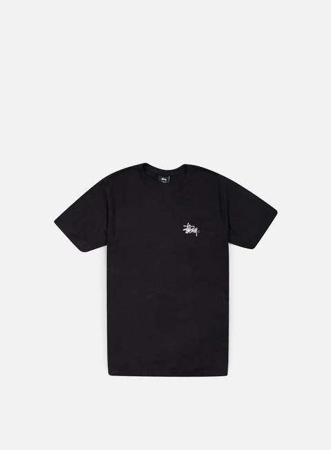 t shirt stussy basic logo t shirt black