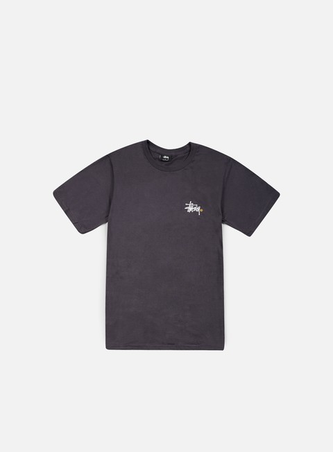 t shirt stussy basic logo t shirt charcoal