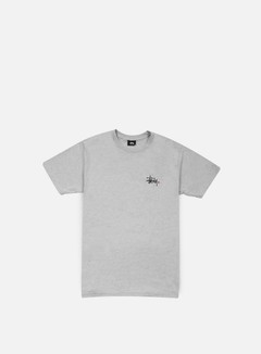 Stussy - Basic Logo T-shirt, Grey Heather