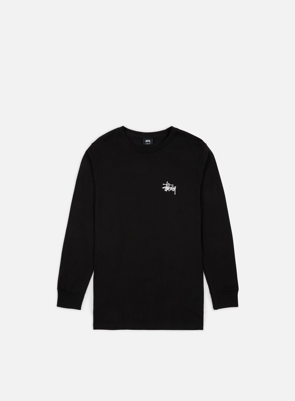 Stussy - Basic Stussy LS T-shirt, Black/White