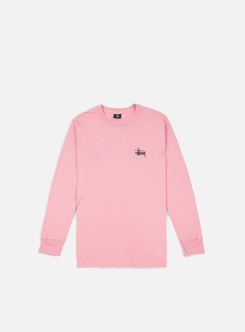 t shirt stussy basic stussy ls t shirt dusty rose black