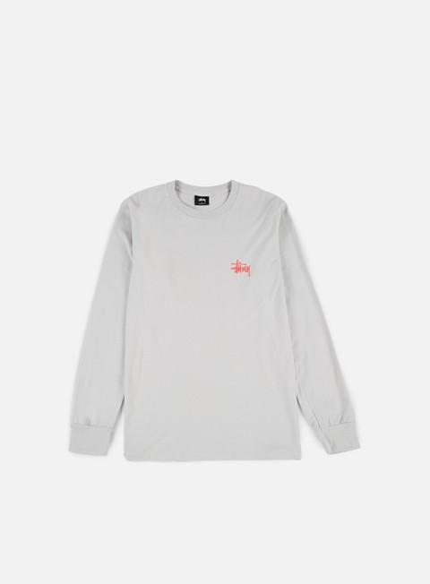 t shirt stussy basic stussy ls t shirt fog light red