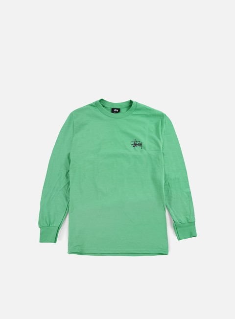t shirt stussy basic stussy ls t shirt green