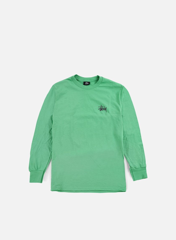 Stussy - Basic Stussy LS T-shirt, Green