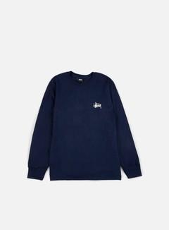 Stussy - Basic Stussy LS T-shirt, Navy