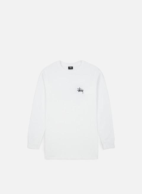 t shirt stussy basic stussy ls t shirt white