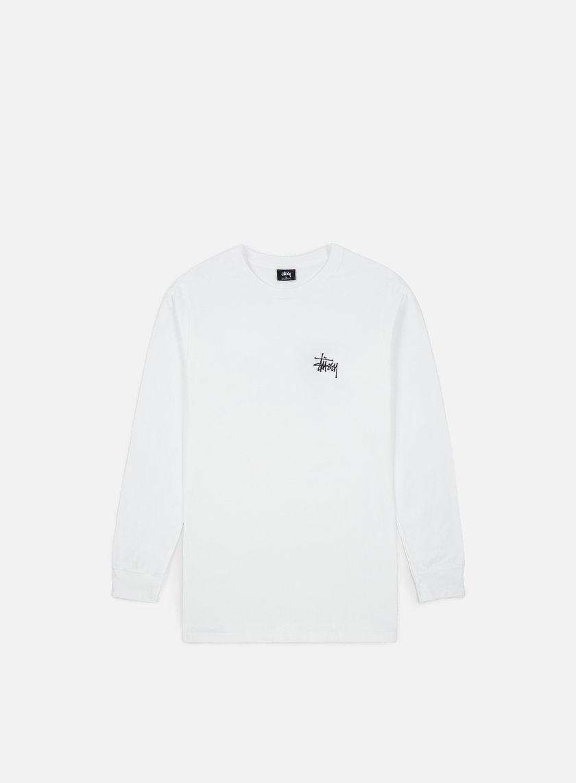 Stussy - Basic Stussy LS T-shirt, White