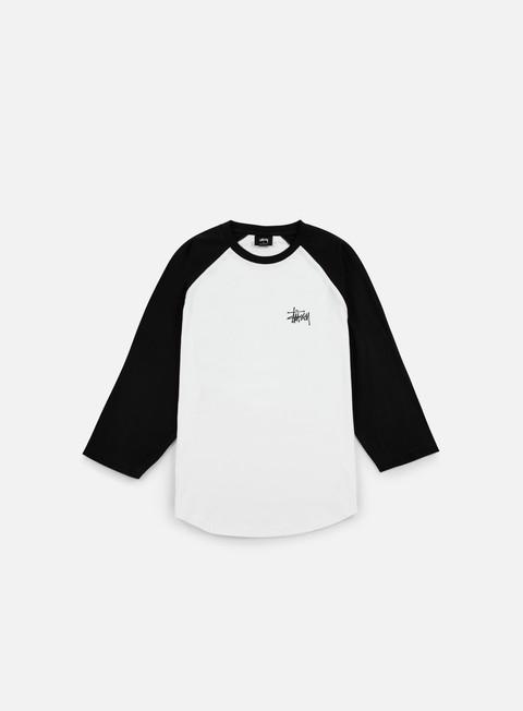 t shirt stussy basic stussy raglan t shirt white black