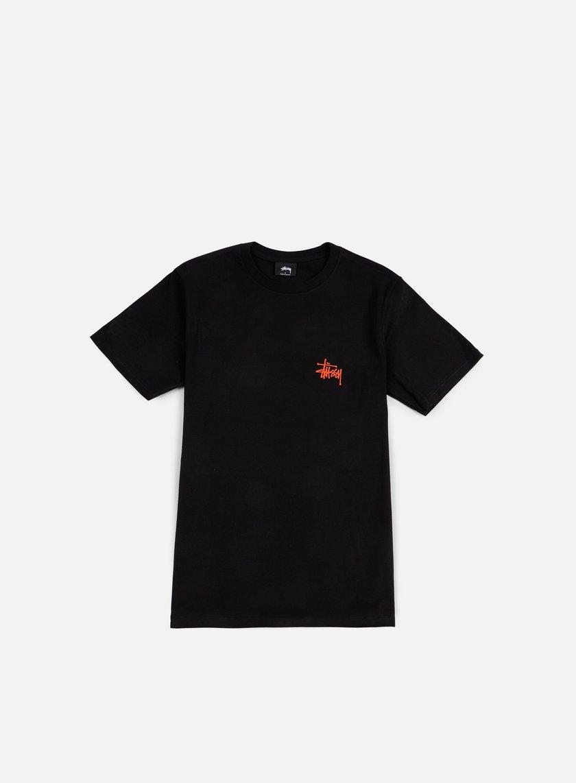 Stussy - Basic Stussy T-shirt, Black