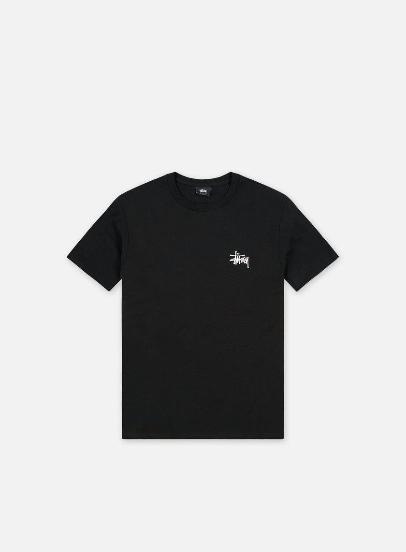 Stussy - Basic Stussy T-shirt,Black/White