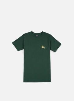 Stussy - Basic Stussy T-shirt, Dark Forest/Apricot