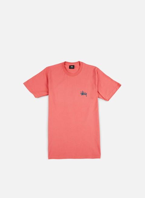 t shirt stussy basic stussy t shirt dark pink