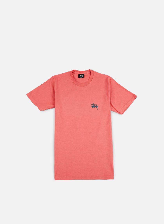 Stussy - Basic Stussy T-shirt, Dark Pink