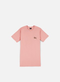 Stussy - Basic Stussy T-shirt, Dusty Rose/Chocolate