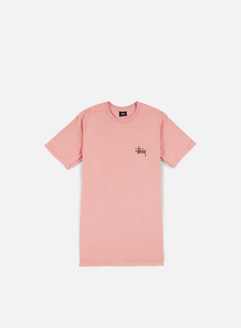 t shirt stussy basic stussy t shirt dusty rose chocolate