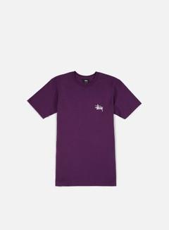 Stussy - Basic Stussy T-shirt, Grape/White