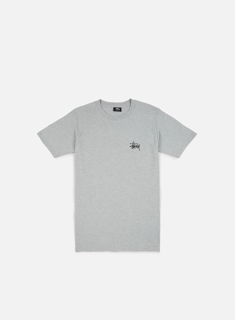 t shirt stussy basic stussy t shirt grey heather