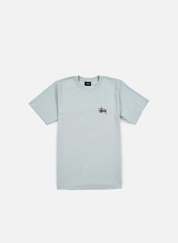 Stussy - Basic Stussy T-shirt, Ice Blue