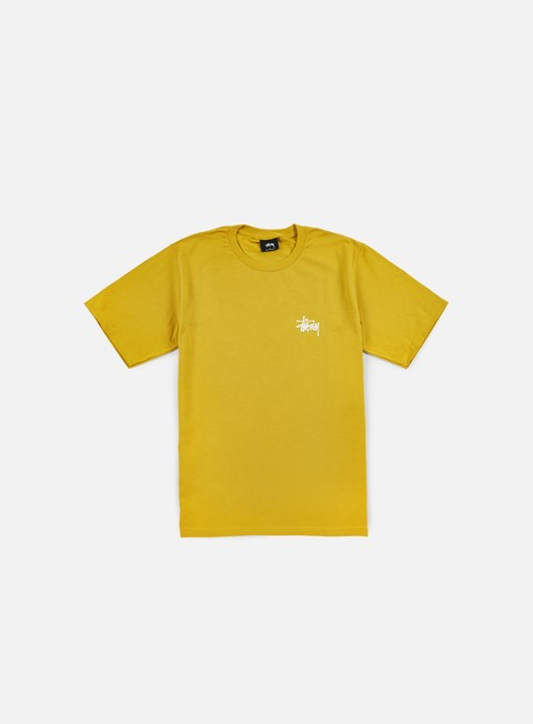 t shirt stussy basic stussy t shirt mustard