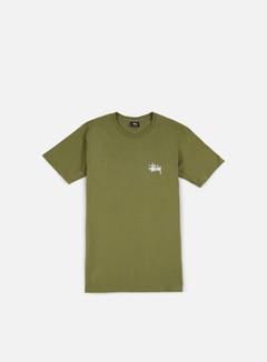 Stussy - Basic Stussy T-shirt, Olive/White