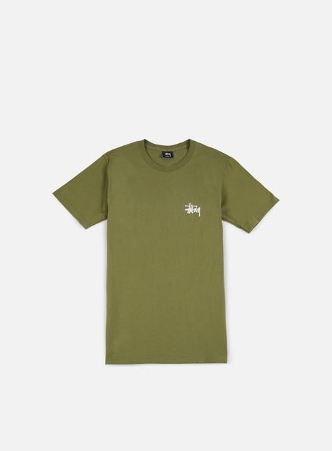 t shirt stussy basic stussy t shirt olive white