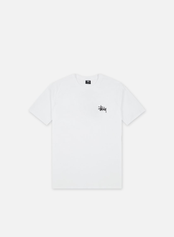 Stussy - Basic Stussy T-shirt,White/Black