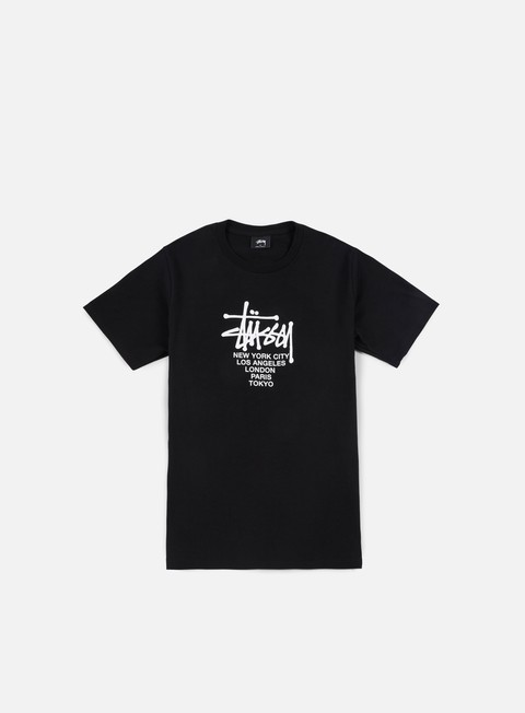 t shirt stussy big cities t shirt black