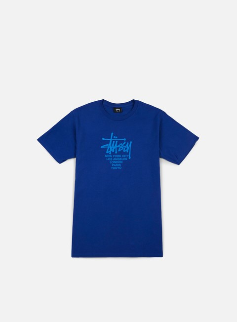 t shirt stussy big cities t shirt dark blue