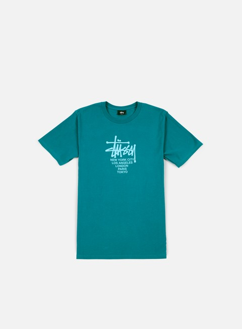 t shirt stussy big cities t shirt dark teal