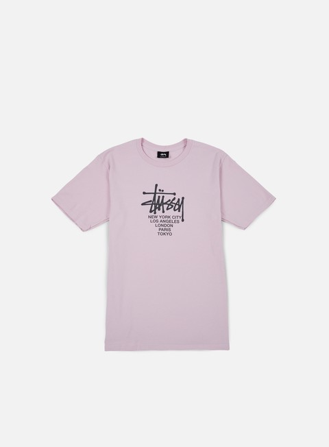 t shirt stussy big cities t shirt light lavender