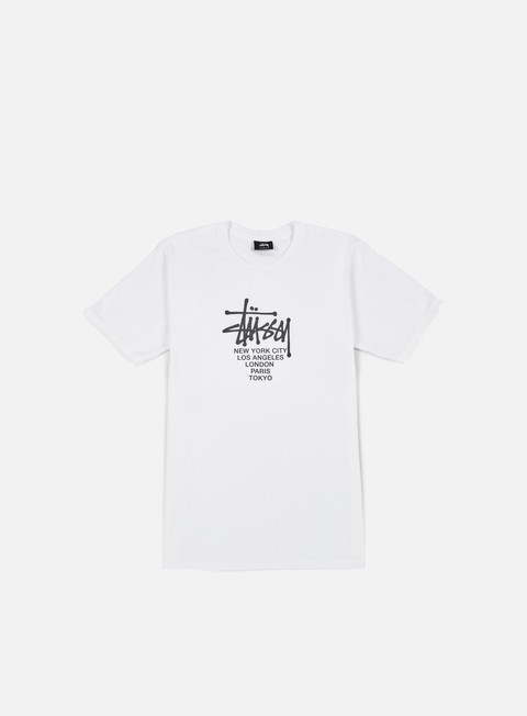 t shirt stussy big cities t shirt white