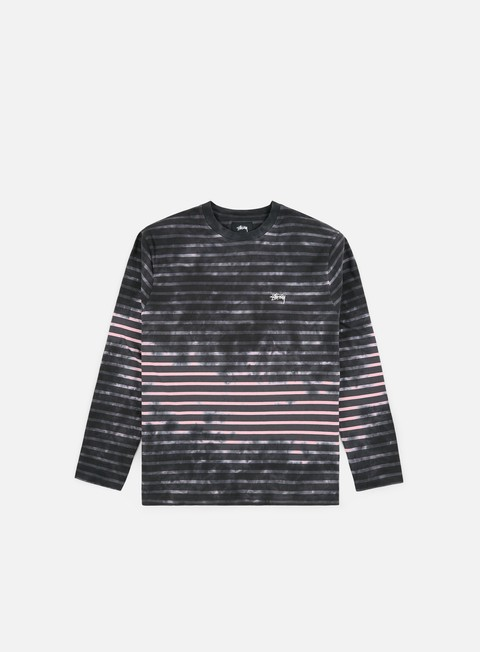 Long Sleeve T-shirts Stussy Bleach Stripe Crew LS T-shirt