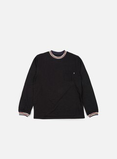 Stussy - Block Stripe Jacquard LS T-shirt, Black 1