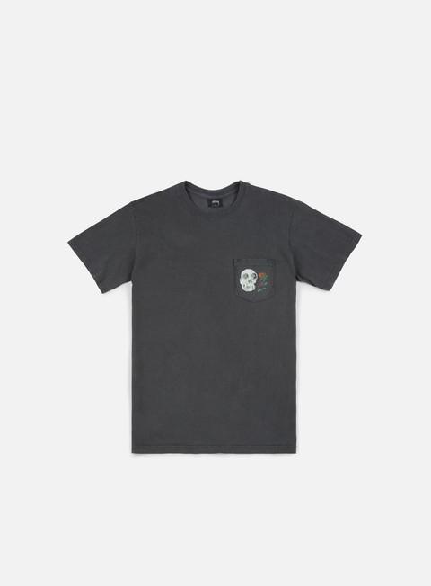 Outlet e Saldi T-shirt a Manica Corta Stussy Calavera Pigment Dyed Pocket T-shirt