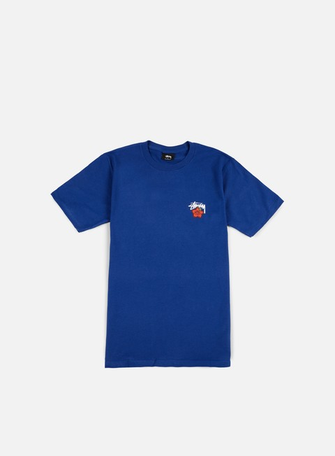 t shirt stussy cali rose t shirt dark blue