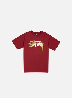 Stussy - Chrome Stock T-shirt, Dark Red