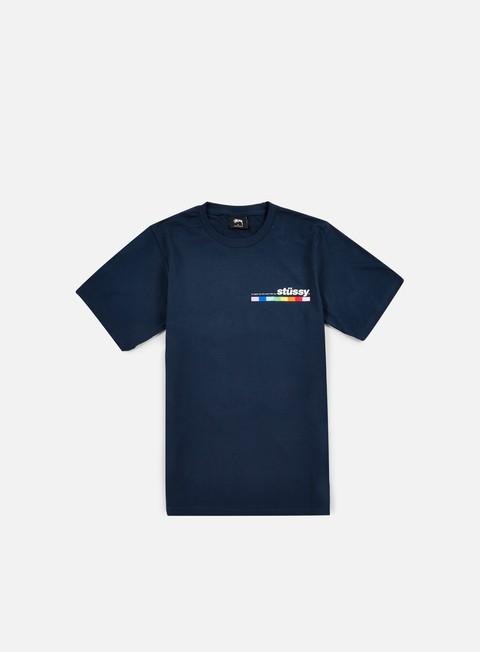 Sale Outlet Short sleeve T-shirts Stussy Color Bar T-shirt