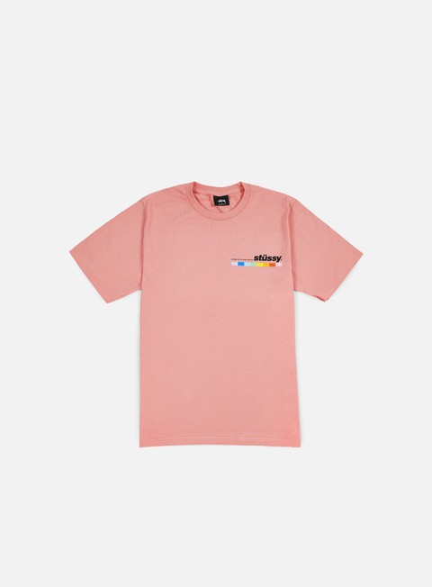 t shirt stussy color bar t shirt rose