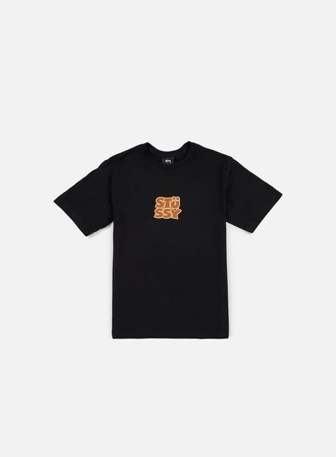 t shirt stussy compact t shirt black