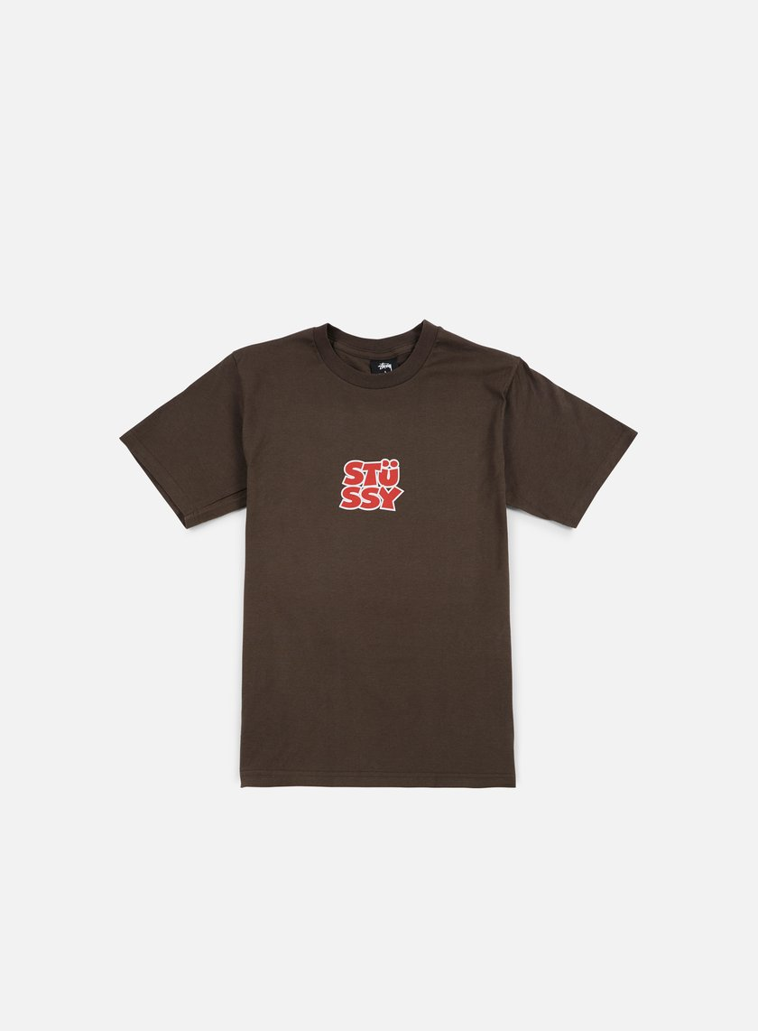 Stussy - Compact T-shirt, Chacoal
