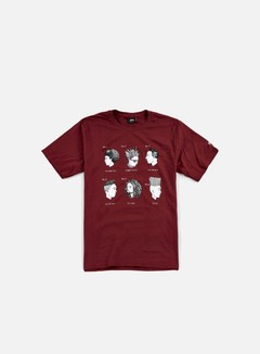Stussy - Cuts T-shirt, Dark Red 1