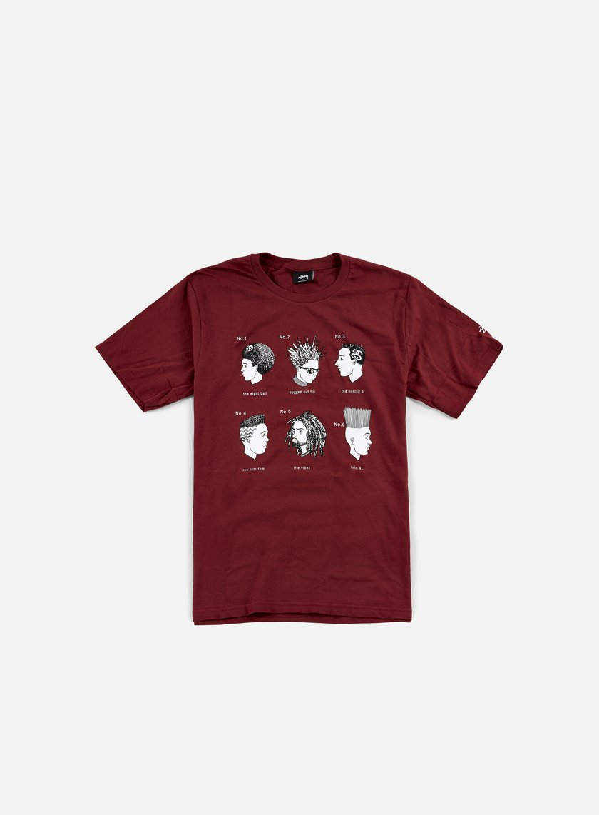 Stussy - Cuts T-shirt, Dark Red