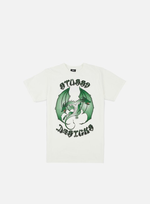 t shirt stussy double dragon pigment dyed t shirt natural