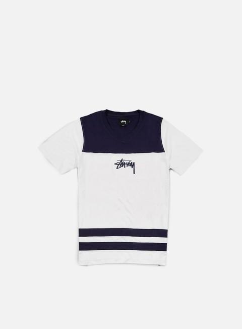 Short Sleeve T-shirts Stussy Double Stripe V-Neck T-shirt