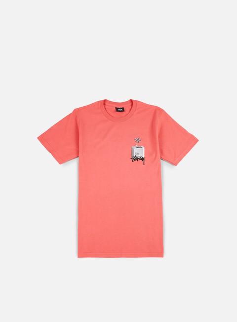 t shirt stussy esc t shirt dark pink