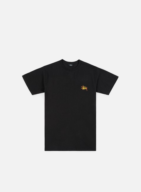 t shirt stussy fireball t shirt black