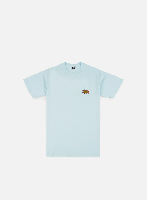 t shirt stussy fireball t shirt light blue